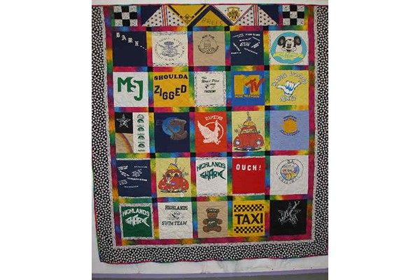Brees t-shirt quilt b