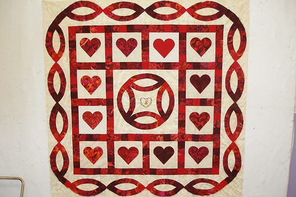 Ian & Katy's wedding quilt b