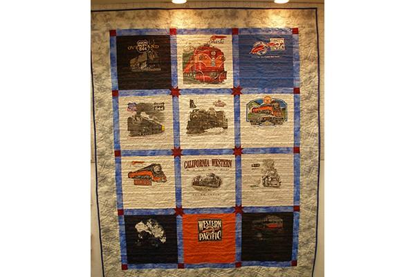 Train t-shirt quilt b